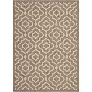 Safavieh Indoor/ Outdoor Courtyard Brown/ Bone Area Rug (4' x 5'7) Safavieh 3x5   4x6 Rugs