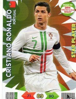 Adrenalyn XL Road To 2014 World Cup Brazil #156 Cristiano Ronaldo Star Player: Toys & Games