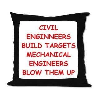 funny engineering jokes Suede Pillow by ScienceMadeSilly