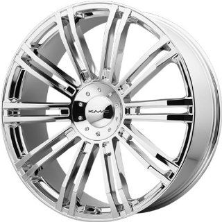 KMC KM677 20x8.5 Chrome Wheel / Rim 5x4.5 & 5x120 with a 35mm Offset and a 74.10 Hub Bore. Partnumber KM67728517235: Automotive