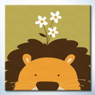 "DiyOilPaintings Lion Paint By Number Kit for Kids, Animal, Lion, 7.87""x7.87: Arts, Crafts & Sewing"