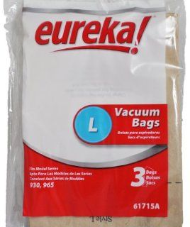 Eureka Style L Canister Vacuum Cleaner Bags, Fits Eureka Vacuum Series 960, Eureka Item Number 61715, 3 bags in pack   Household Vacuum Bags Canister