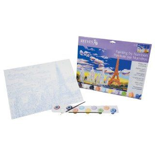 Reeves 12 Inch by 16 Inch Large Paint by Number Kit, Eiffel Tower: Arts, Crafts & Sewing