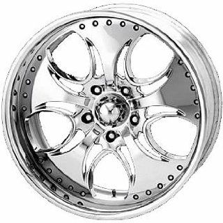 KMC KM755 20x8.5 Chrome Wheel / Rim 5x5.5 with a 12mm Offset and a 78.00 Hub Bore. Partnumber KM75528585212: Automotive