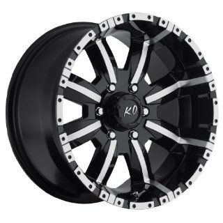 17 inch 17x9 Rev 808MB black machined wheel rim; 6x135 bolt pattern with a +12 offset. Part Number 808MB 7906312 Automotive