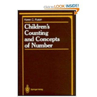 Children's Counting and Concepts of Number (Springer Series in Cognitive Development): Karen C. Fuson: 9780387965666: Books