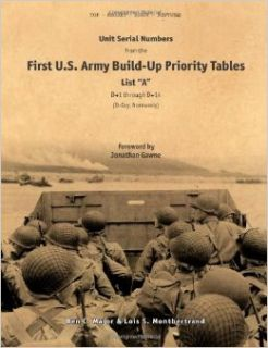 "Unit Serial Numbers from the ""First U.S. Army Build Up Priority Tables, List A, D+1 through D+14"" D Day (Normandy)   Top Secret   BIGOT NEPTUNE Lois S. Montbertrand, Ben C. Major, Jonathan Gawne 9781447676812 Books"