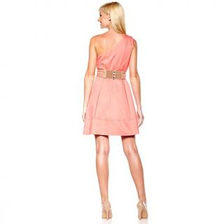 Jessica Simpson Women's One Shoulder Dress with Belt