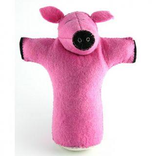 Isabella Cane 100% Wool Dog Toy   Pig
