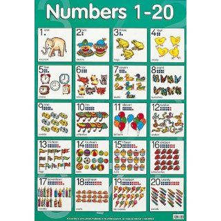 Numbers 1 to 20 Cheap Chart (Cheap Charts): School Specialty Publishing: 9780768212822: Books