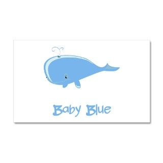 Baby Blue Whale 38.5 x 24.5 Wall Peel by AmazingMart