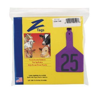 Z Tags 1 Piece Pre Numbered Hot Stamp Tags for Cows, Numbers from 1 to 25, Purple : Livestock Handling Supplies : Patio, Lawn & Garden