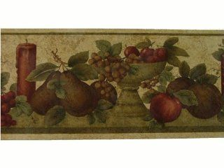 Norwall Burgundy Grapes and Candle Wallpaper Border Pattern Number: KS70668L