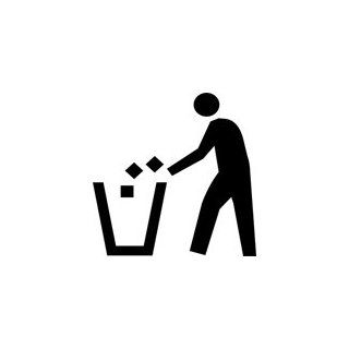 Waste Trash Disposal Sign Symbol Stencil   8 inch   10 mil medium duty: Industrial & Scientific