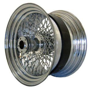 "Chrome Twisted 80 Spoke 18"" X 10.5"" Rear Wheel for Harley Davidson Wide Tire Custom Models: Automotive"