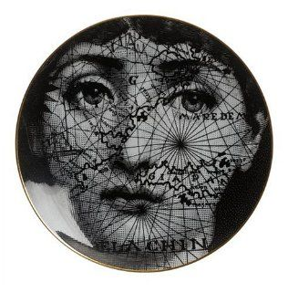 Rosenthal Fornasetti Collector Julia Plates   Map on Face: Kitchen & Dining