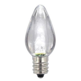 Pack of 25 Pure White LED Transparent Twinkle C7 Christmas Replacement Bulbs   Led Household Light Bulbs