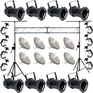 8 Silver PAR CAN 64 1000w PAR64 VNSP C Clamp Adj. Truss 1864: Home Improvement