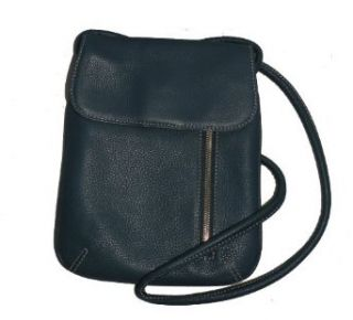 Tignanello Blue Leather Crossbody Handbag Clothing