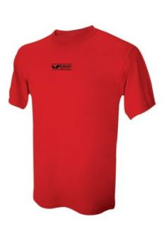 Butterfly Table Tennis Logo T Shirt (Red, Medium) : Clothing