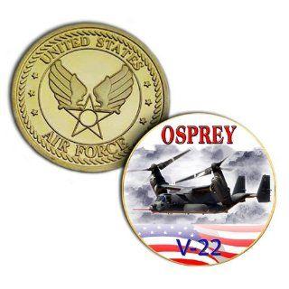 USAF V 22 Osprey Gold Plated Printed Challenge Coin  Collectible Coins