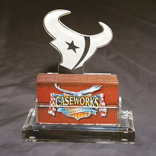 Houston Texans NFL Logo Desktop Acrylic Business Card Holder