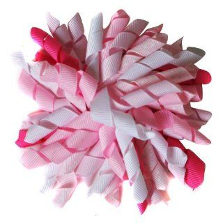 "Grosgrain Ribbon Corker 3 1/2"" Hair Bow   Choose Color (Pink / Hot Pink): Clothing"