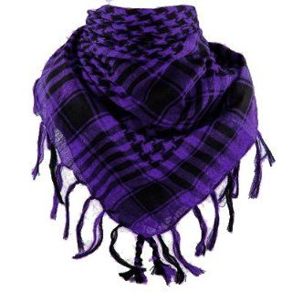 Houndstooth Plaid Scarf Wrap Neck Scarve Fashion Hot Trend Check (Black & Purple) : Other Products : Everything Else