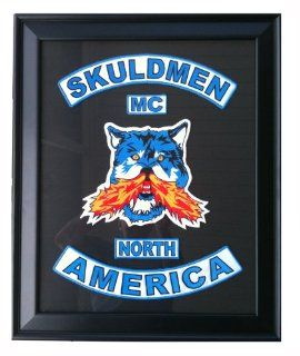 """Skuldmen Motorcycle Club   Limited Edition   16"""" x 20"""" Framed Patch Set  Other Products"""