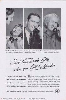 """1951 Bell Telephone System """"Call by Number"""" Vintage Ad"""