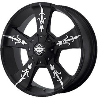 KMC KM668 22x9 Black Wheel / Rim 8x6.5 with a 18mm Offset and a 125.50 Hub Bore. Partnumber KM66822980718: Automotive