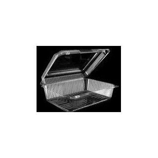 Dart C55UT1 Clear Plastic 1 Compartment Container w/Hinged Lid (C55UT1DART) Category Plastic Food Containers   Health And Personal Care