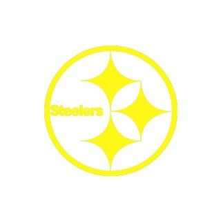 "Steelers Large 10"" Tall YELLOW vinyl window decal sticker"": Automotive"