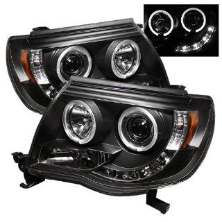 2005 2007 Toyota Tacoma SR LED Black Halo Projector Headlights: Automotive