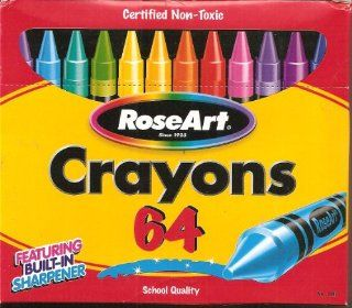 Rose Art Crayons 64 School Quality: Toys & Games