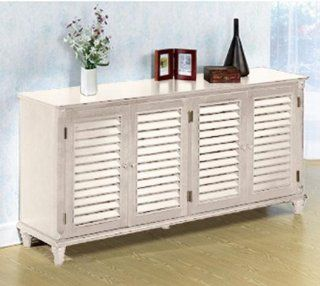 "Savannah 64""w 4 door Credenza, 64""W, WHITE"