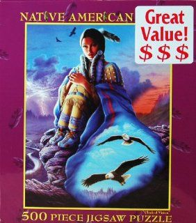 Native American Series 500 Piece Jigsaw Puzzle   Cloak of Vision Toys & Games