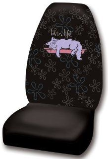 "Max And Lucy ""Lovin' Life"" Cat Universal Fit Bucket Seat Cover: Automotive"