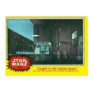 Star Wars card #163 1977 Topps Caught in the tractor beam! Millennium Falcon Death Star: Collectibles & Fine Art