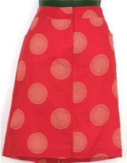 AUGUST SILK Red White Cotton Skirt Size 8: Clothing