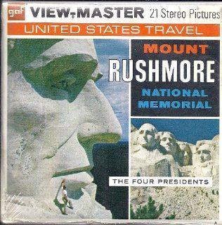 1960's Mount Rushmore South Dakota 3d View Master 3 Reel Packet Toys & Games