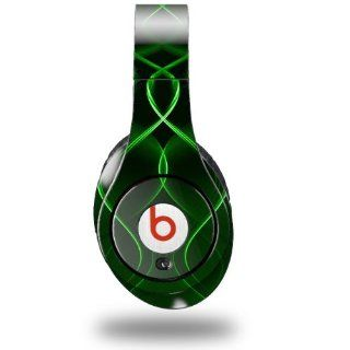 Abstract 01 Green Decal Style Skin (fits ORIGINAL Beats Studio Headphones   HEADPHONES NOT INCLUDED): Everything Else
