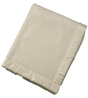 John Atkinson Contessa 100 Percent Merino Wool Heirloom Blanket, Super King, 109 Inch by 119 Inch, White   Bed Blankets