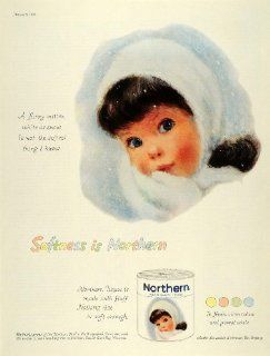 1959 Ad Northern Girls Snow White Bath Tissue Toilet Paper Baby American Can   Original Print Ad