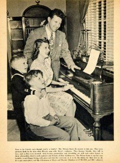 1946 Rotogravure Harriet Ozzie Nelson Family David Ricky Radio Comedy TV Sitcom   Original Rotogravure   Prints