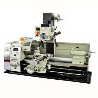 "BOLTON TOOLS 11"" x 28"" High Precision Gear Variable Speed Combo Lathe W/ Digital Read Out. Lathe Motor Is 1.3 HP Mill Motor is 3/4HP, Swing Over Bed 11"", Spindle Bore 1 1/2"", Tolerance Test Certificate, Test Chart Included STAND SOLD SE"