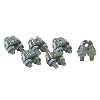 "CPML116 6 Galvanized Steel Wire Rope 1/16"" Cable Clamp Clip 6 Pack: Home Improvement"
