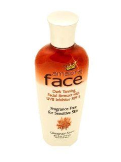 Designer Skin Amazing Face Dark Tanning Facial Bronzer with SPF 4 Indoor Tanning Salon / tan lotion for Men and Women e 4 fl.oz. 118 ml: Beauty