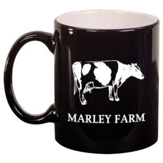 Cow Engraved Coffee Mug: Kitchen & Dining