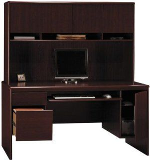 Computer Credenza with Hutch GDA131: Office Products